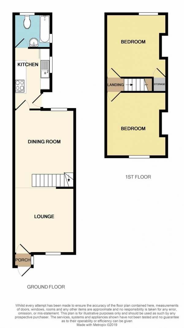 Floor Plan Image for 2 Bedroom Terraced House to Rent in Farm Road, Oldbury
