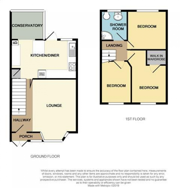 Floor Plan Image for 3 Bedroom Terraced House for Sale in Beacon Road, Pheasey, Great Barr