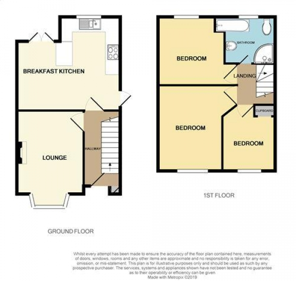 Floor Plan Image for 3 Bedroom Semi-Detached House for Sale in Stanhope Way, Pheasey Estate, Great Barr