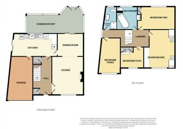 Floor Plan Image for 4 Bedroom Detached House for Sale in Hopkins Drive, West Bromwich