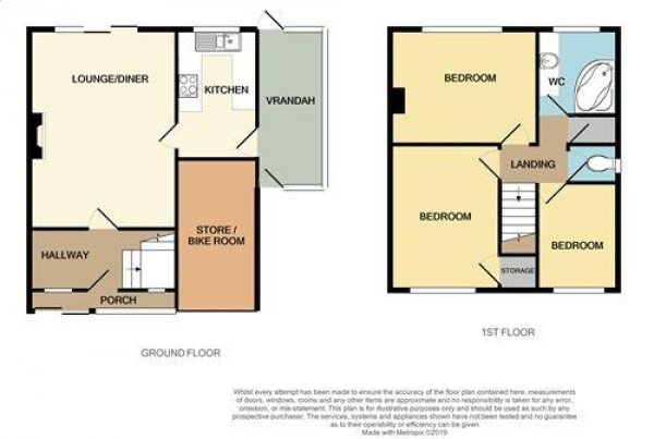 Floor Plan Image for 3 Bedroom Detached House for Sale in Waverley Avenue, Park Farm, Great Barr