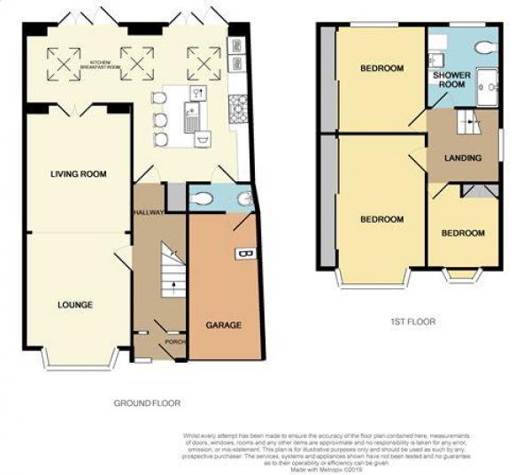 Floor Plan Image for 3 Bedroom Semi-Detached House for Sale in Mayfield Road, Streetly, Sutton Coldfield