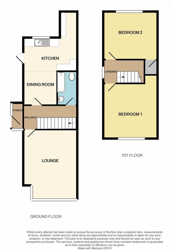 Floor Plan Image for 2 Bedroom Semi-Detached House for Sale in Booths Lane, Great Barr