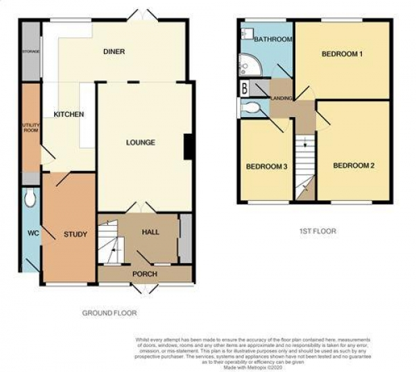 Floor Plan Image for 3 Bedroom Semi-Detached House for Sale in Beacon Road, Park Farm, Great Barr