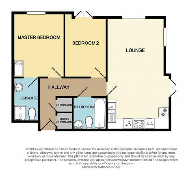 Floor Plan Image for 2 Bedroom Apartment for Sale in Horseshoe Crescent, Nether Hall Estate, Great Barr