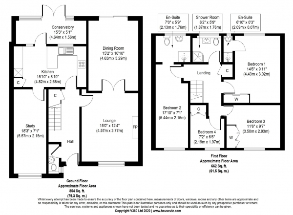 Floor Plan Image for 4 Bedroom Detached House for Sale in Wopsle Close, Rochester
