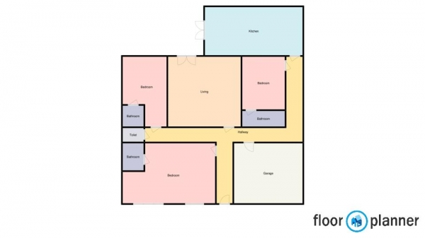 Floor Plan Image for 3 Bedroom Bungalow for Sale in School Lane, Shareshill