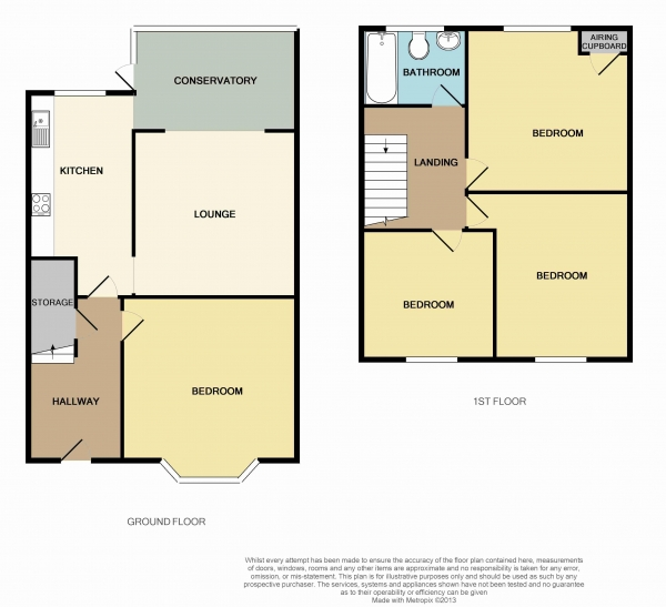 Floor Plan Image for 4 Bedroom Terraced House to Rent in Mortimer Road, Filton, Bristol