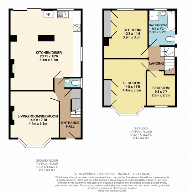 Floor Plan Image for 3 Bedroom Semi-Detached House to Rent in Filton Road, Bristol
