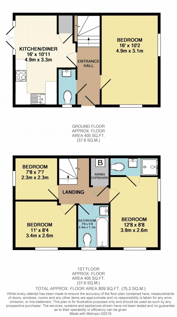 Floor Plan Image for 4 Bedroom Semi-Detached House to Rent in Sorrel Place, Bristol
