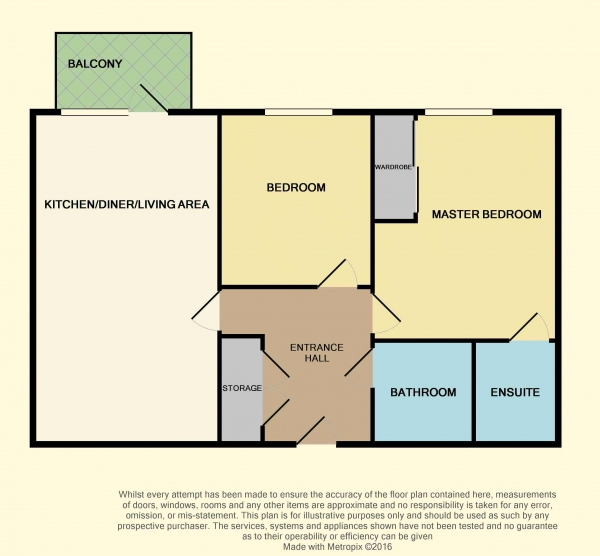 Floor Plan Image for 2 Bedroom Apartment for Sale in John Thornycroft Road, Southampton