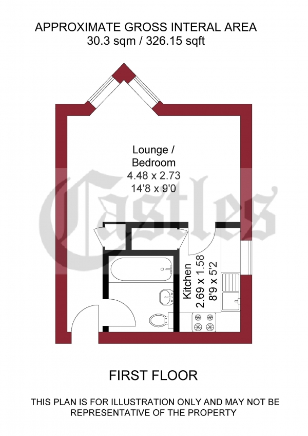 Floor Plan Image for Studio for Sale in Cosgrove Close, Winchmore Hill, N21