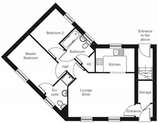 Floor Plan Image for 2 Bedroom Maisonette for Sale in Lime Close, Red Lodge, IP28 8WY
