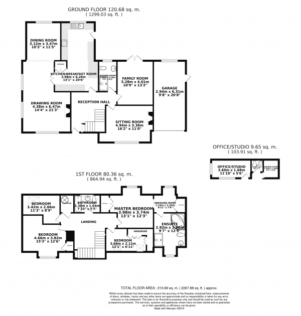 Floor Plan Image for 4 Bedroom Detached House for Sale in High Street, Cheveley, CB8 9DG