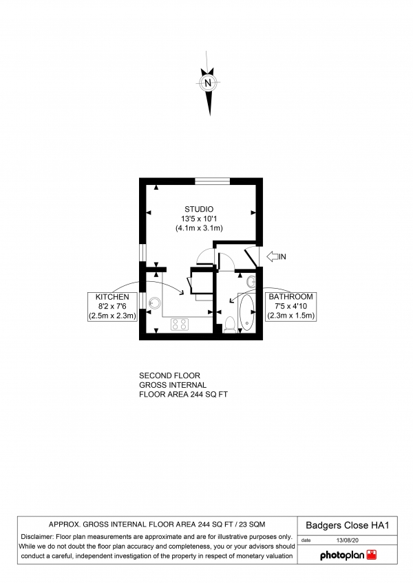 Floor Plan Image for Property for Sale in Badgers Close, West Harrow