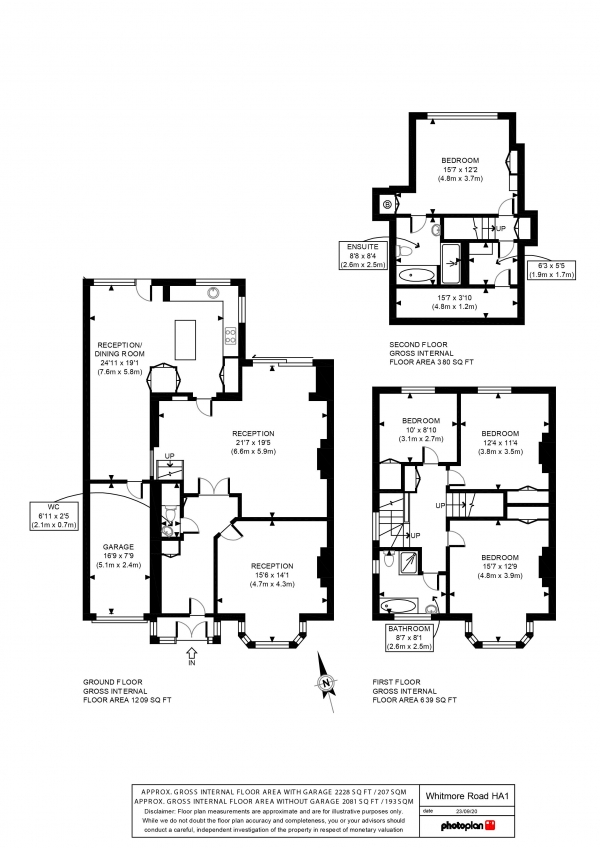 Floor Plan Image for 4 Bedroom Semi-Detached House for Sale in Whitmore Road, Harrow