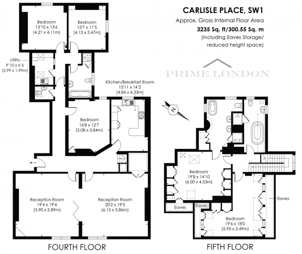 Floor Plan Image for 5 Bedroom Apartment for Sale in Carlisle Mansions, Carlisle Place, Victoria