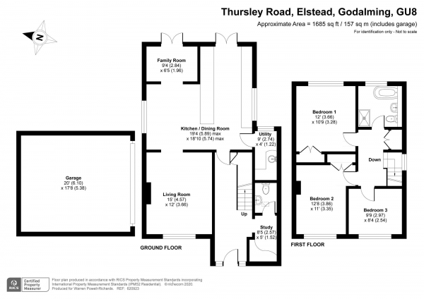 Floor Plan Image for 3 Bedroom Detached House for Sale in Thursley Road, Elstead