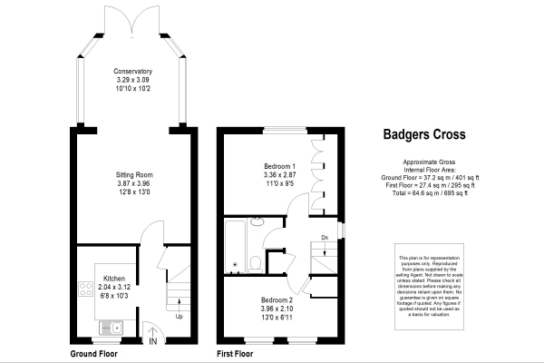 Floor Plan Image for 2 Bedroom Terraced House for Sale in Portsmouth Road, Milford