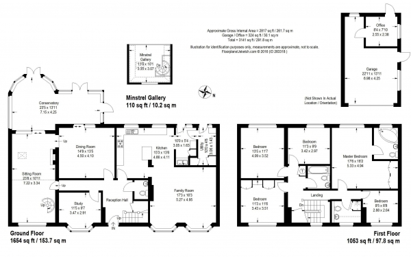 Floor Plan Image for 5 Bedroom Detached House for Sale in West Clandon, Surrey