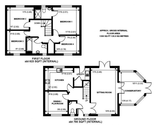 Floor Plan Image for 4 Bedroom Detached House for Sale in Foxwood Close, Wormley