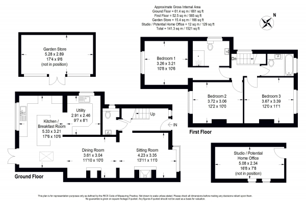Floor Plan Image for 3 Bedroom Semi-Detached House for Sale in Meadow Close, Milford - EXTENDED FAMILY HOME WITH SOUTH WEST GARDEN