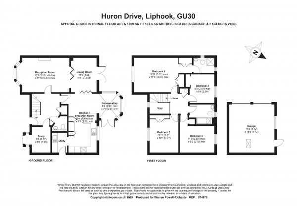 Floor Plan Image for 4 Bedroom Detached House for Sale in Huron Drive, Liphook