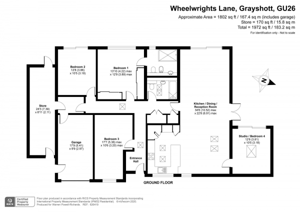 Floor Plan Image for 4 Bedroom Bungalow for Sale in Wheelwrights Lane, Hindhead