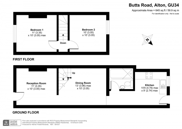 Floor Plan Image for 2 Bedroom End of Terrace House for Sale in Alton