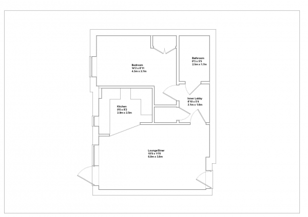 Floor Plan Image for 1 Bedroom Ground Flat for Sale in Alton, Hampshire
