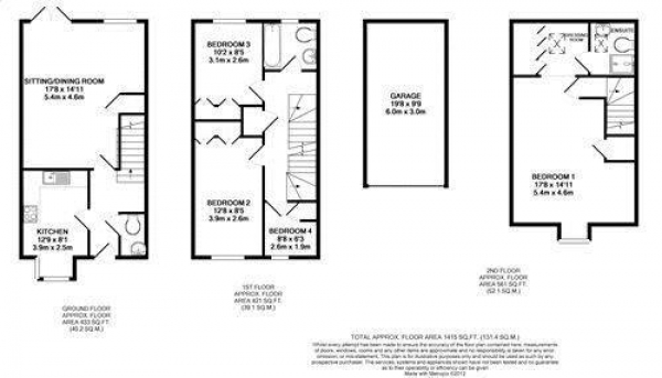 Floor Plan Image for 4 Bedroom Semi-Detached House to Rent in Four Marks