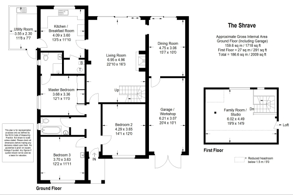 Floor Plan Image for 4 Bedroom Bungalow for Sale in The Shrave, Four Marks, Alton, Hampshire