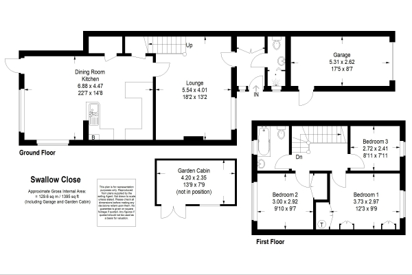 Floor Plan Image for 3 Bedroom Semi-Detached House for Sale in Swallow Close, Alton, Hampshire