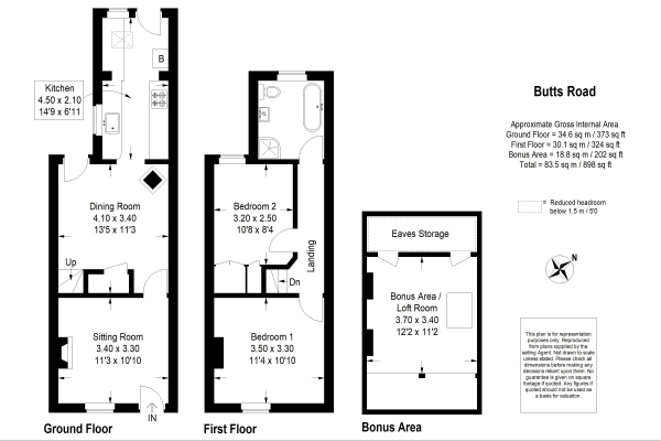 Floor Plan Image for 2 Bedroom Property for Sale in Butts Road, Alton
