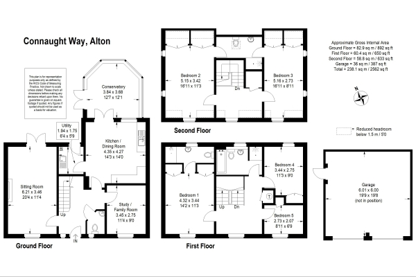 Floor Plan Image for 5 Bedroom Detached House for Sale in Connaught Way, Alton