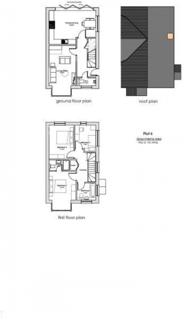 Floor Plan Image for 3 Bedroom Semi-Detached House to Rent in Trimming Close, Farnham