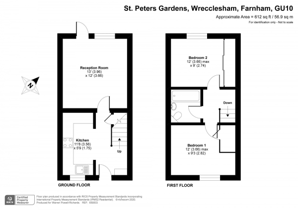 Floor Plan Image for 2 Bedroom Semi-Detached House for Sale in St. Peters Gardens, Farnham