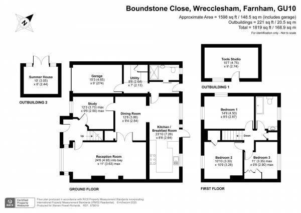 Floor Plan Image for 3 Bedroom Semi-Detached House for Sale in Boundstone Close, Farnham
