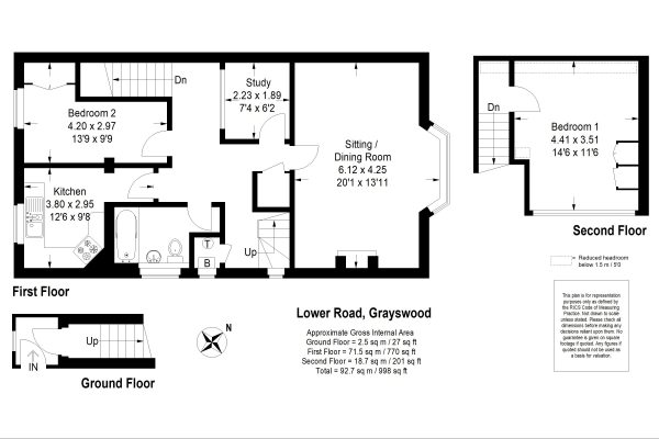 Floor Plan Image for 2 Bedroom Flat for Sale in Lower Road, Haslemere