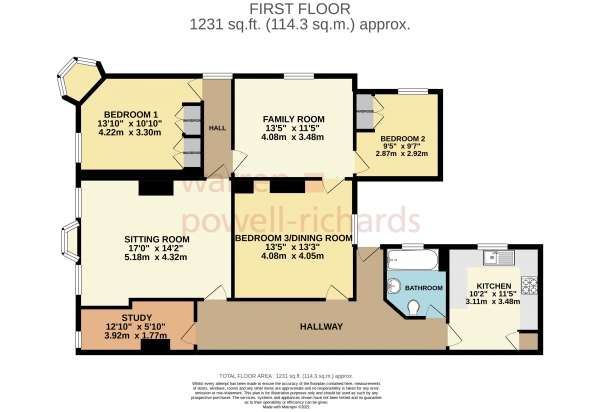 Floor Plan Image for 2 Bedroom Apartment to Rent in High Street, Haslemere
