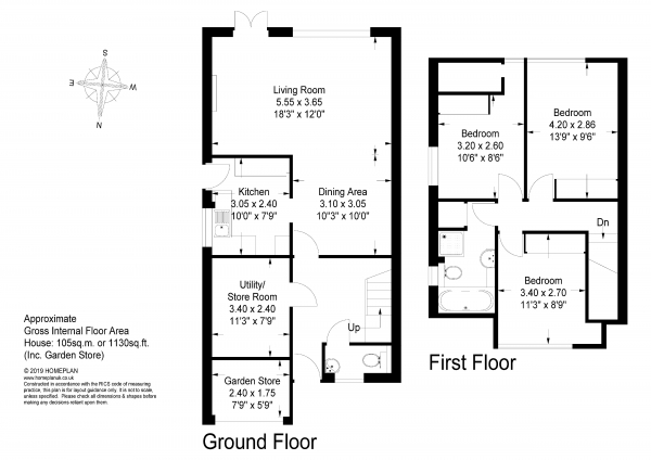 Floor Plan Image for 3 Bedroom Semi-Detached House for Sale in West Close, Fernhurst - POPULAR VILLAGE LOCATION