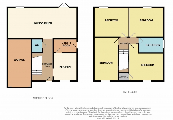 Floor Plan Image for 4 Bedroom Detached House for Sale in Lyvelly Gardens, Parnwell, Peterborough, PE1 5RX