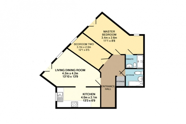 Floor Plan Image for 2 Bedroom Apartment to Rent in Eagle Way, Hampton, Peterborough, PE7 8GR