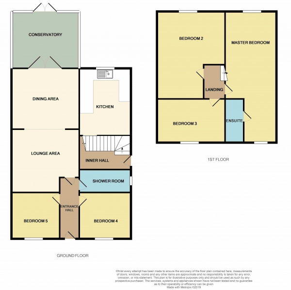 Floor Plan Image for 5 Bedroom Detached House for Sale in Peterborough Road, Farcet, Peterborough, PE7 3BW