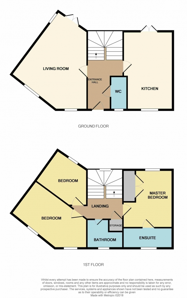 Floor Plan Image for 3 Bedroom Semi-Detached House to Rent in Hercules Way, Cardea, Peterborough, PE2 8FQ