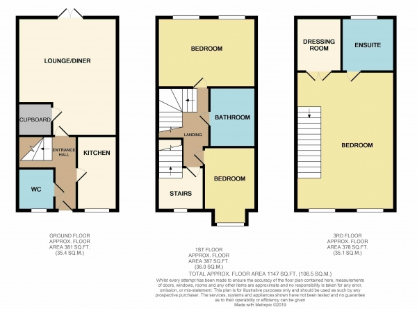 Floor Plan Image for 3 Bedroom Town House for Sale in Harn Road, Hampton, Peterborough, PE7 8GH