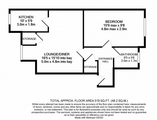 Floor Plan Image for 1 Bedroom Flat for Sale in Siskin Close, Bushey