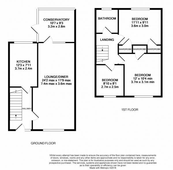 Floor Plan Image for 3 Bedroom Terraced House for Sale in Chiltern Drive, Rickmansworth