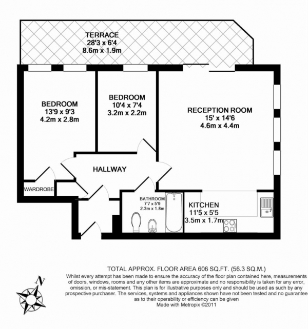 Floor Plan Image for 2 Bedroom Apartment for Sale in Du Cane Road - Shepherds Bush