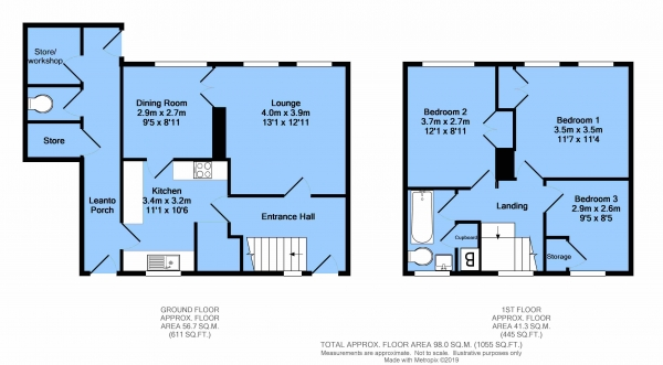 Floor Plan Image for 3 Bedroom Semi-Detached House for Sale in Wingfield Road, New Tupton, Chesterfield, S42 6XX